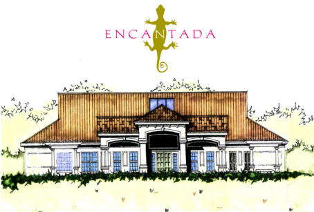 The clubhouse at Encantada Resort